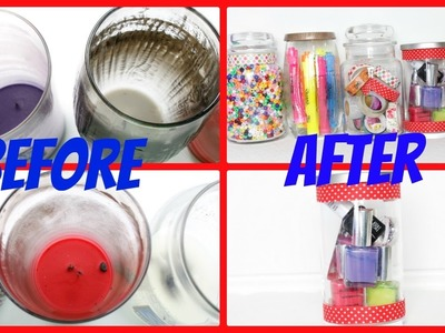How To Clean Candle Jars | Reuse Candle Jars | DIY Recycle Yankee Candle Jar