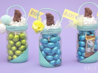 How to DIY A Mason Jar Easter Basket