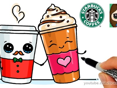 How to Draw a Drinks from Starbucks Easy