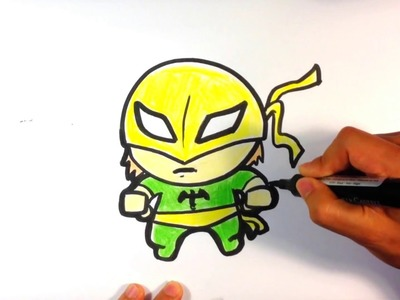 How to Draw Iron Fist (Cute) - Easy Pictures to Draw