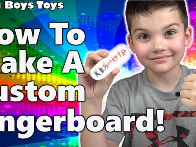 How to Make A Custom Fingerboard with Tony Hawk Circuit Boards and Broken Knuckle