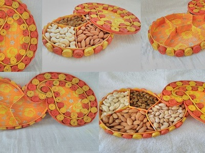 How to make a hand made Dry fruits box from news paper and waste box | Dry fruits box