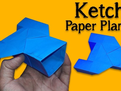 How to Make a Ketch Paper Plane - Best Paper Planes in the World - Origami Paper Airplane