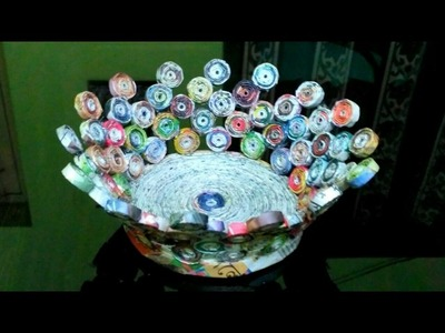 How to make a newspaper fruit bowl (UNIQUE)