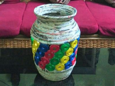 How to make a newspaper jar or vase