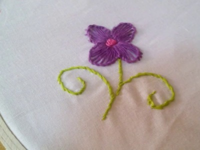 How to Make a Simple Embroidery Flower + Tutorial !