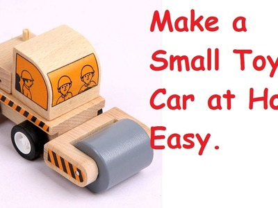 How To Make a Simple Toy Car at home Using Bottle Caps