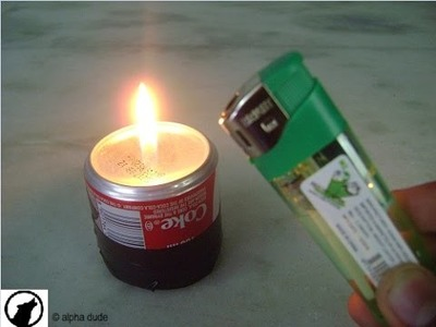 HOW TO MAKE A STOVE WITH COCA COLA CANS AND LIGHTER | DIY|