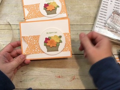 How to make an adorable spring Stampin Up Basket Bunch Card!