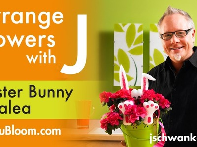 How to Make an Easter Bunny Blooming Plant Decoration!