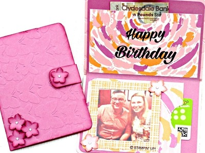 How to make an easy paper wallet for her (Stampin' Up! supplies)