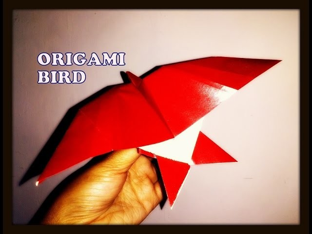 How to make an origami bird paper bird in flying for How to make origami goose