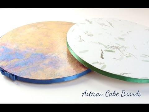 How to Make Beautiful Custom Cake Boards - No Fondant!