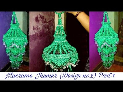 How To Make Big Macrame Jhumer Easily At Home.easy making method{Design no. 2} Part- 1