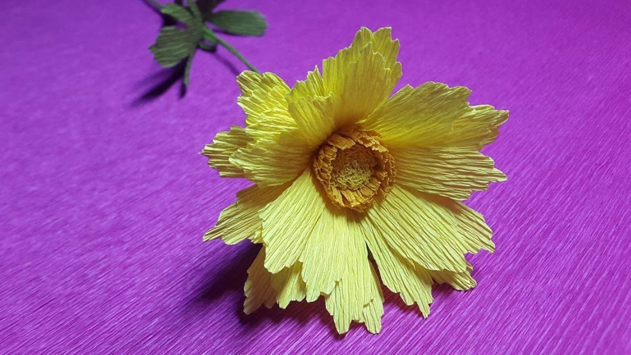 How to Make Coreopsis Paper flowers - Flower Making of Crepe Paper - Paper Flower Tutorial