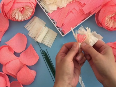 How to make crepe paper PEONY