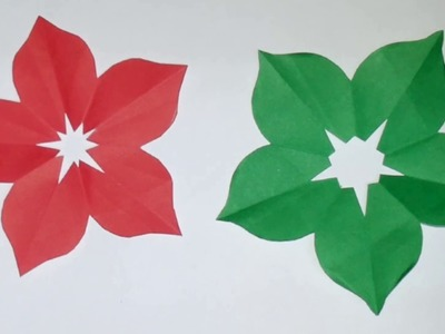 How to make hand cut paper flowers