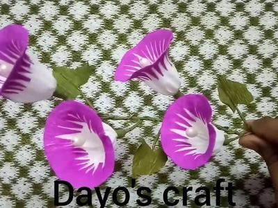 How to make morning glory paper flower from crepe paper