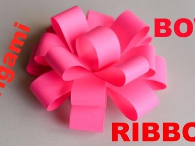 How to make Origami Bow.Ribbon - Easy Origami Ribbons for Beginners - Easy Paper Ribbon Step by Ste