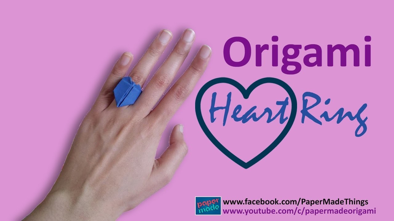 How to Make Paper Heart Ring | Ring Origami | DIY | PaperMade