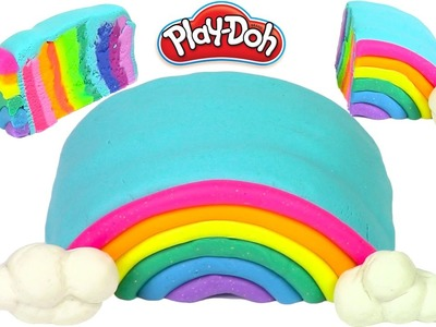 How to Make Play Doh Cake Rainbow and Cloud Play-Doh Rainbow Learning Diy Castle Toys