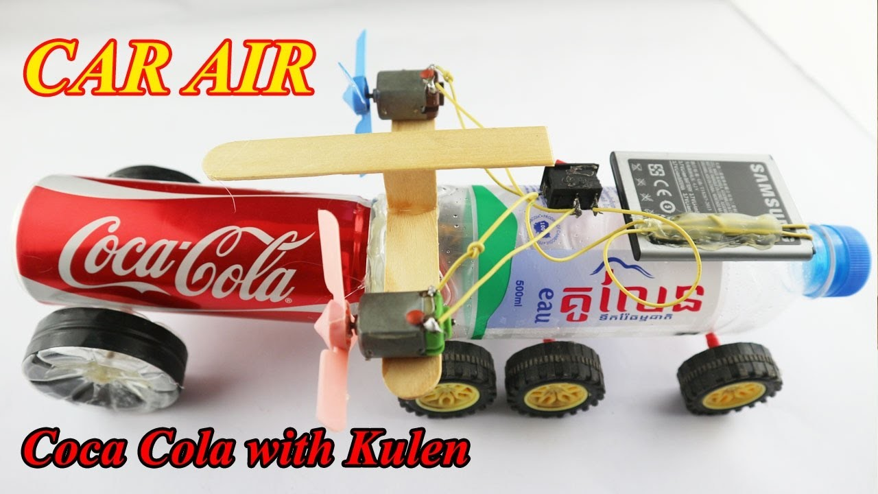 How to make powered air car diy very easy electric car for Simple electric motor car project