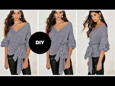 How To Make The Trendy Wrap Blouse I Beginner Sewing