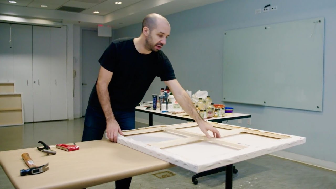 How to stretch a large canvas | IN THE STUDIO