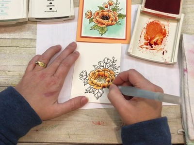How to watercolor a gorgeous Birthday Blooms Card