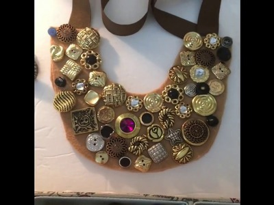 Jewelry Made Out Of Buttons And DIY