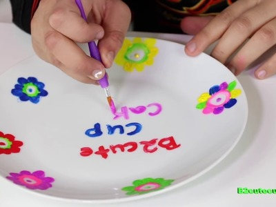 "KIDS DIY'S ""How To"" Totally Me  Paint Your own Place Setting 