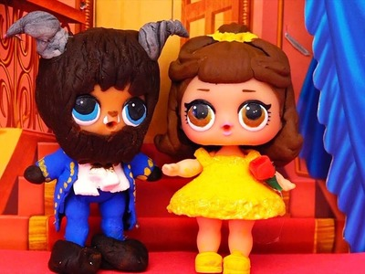 Kids Toys L.O.L. Surprise Dolls Turn Into Beauty & the Beast! DIYCustom Dolls & Full Set of Series 1