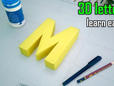 Learn to make 3d letters from paper, letter M m