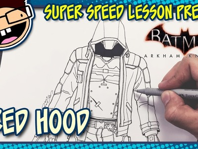 Lesson Preview: How to Draw RED HOOD (Batman: Arkham Knight) | Super Speed Time Lapse Art