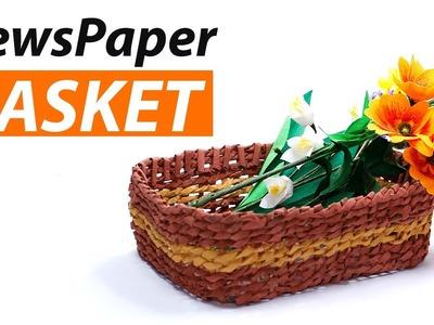 Newspaper Basket DIY Crafts - Best Out of Waste