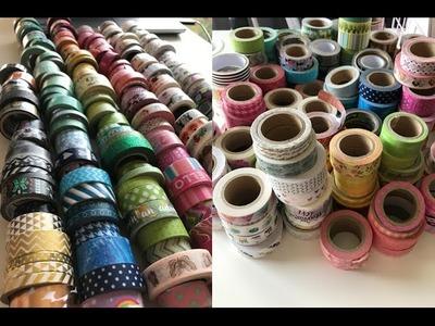 Organize With Me!! Washi Tape DIY Cheap Easy Storage Idea. Washi Collection