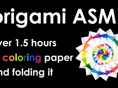 """Origami ASMR: Coloring paper and folding """"Star Festival"""" by Nobuko Okabe"""