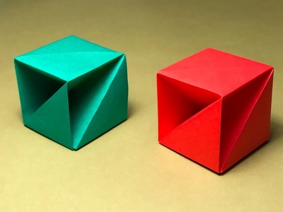 Origami Box with one piece of paper