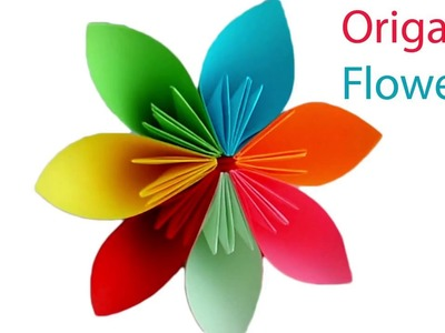 Origami Flower  How to make a beautiful Paper Flower Origami for Kids