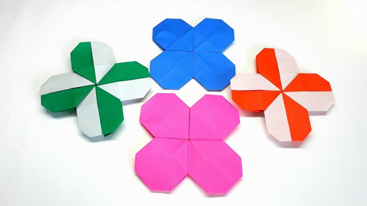 origami tutorial how to fold an easy origami clover