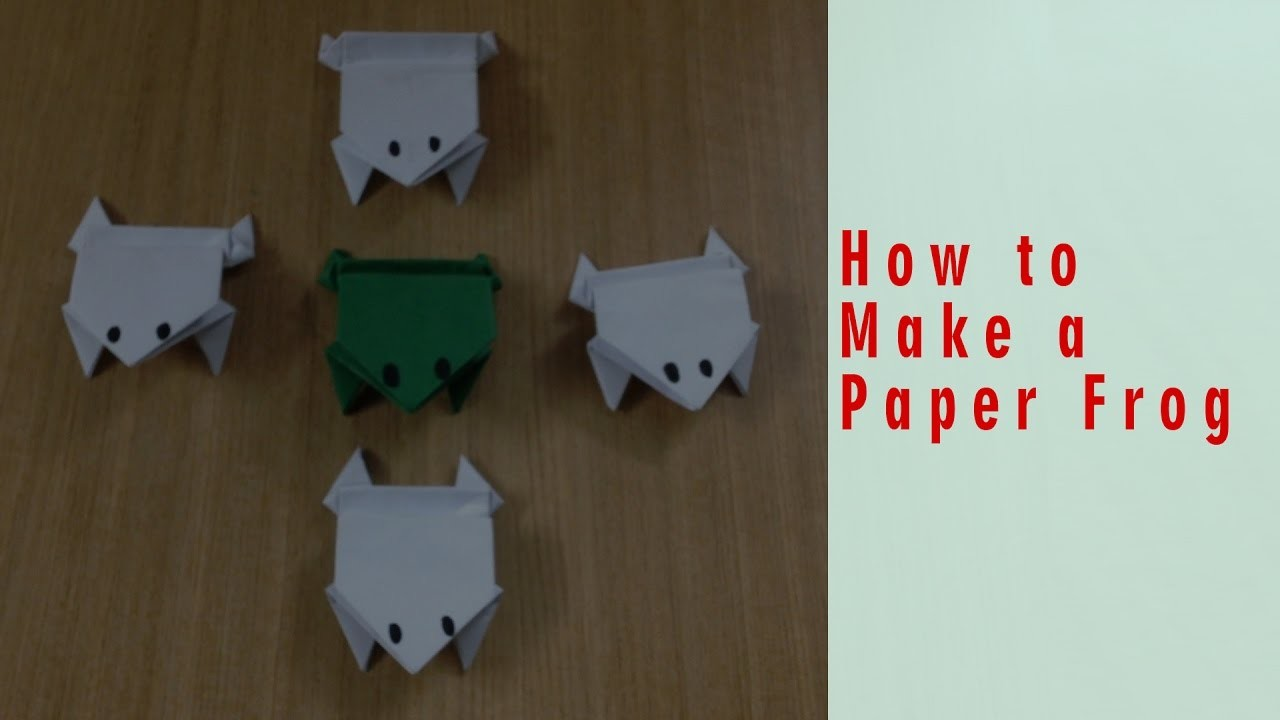 origami way how to make a paper jumping frog