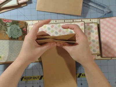 Paper Bag. Envelope Mini Album Share | Garden Party |