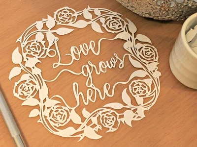 Paper cutting Tutorial & Time lapse, Watch and Relax