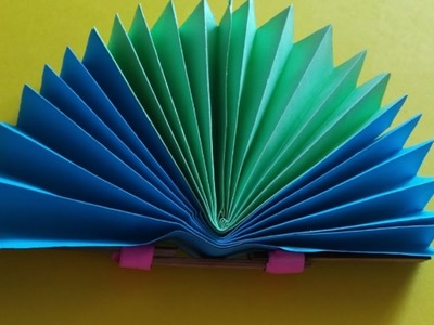 Paper Fan - How to Make an Origami Fan - Making a paper hand fan easily - Step by step