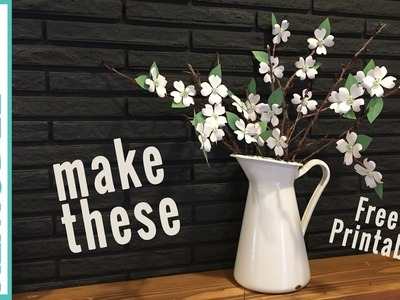 Paper Flower Tutorial | Free Printable Dogwood Paper Flowers