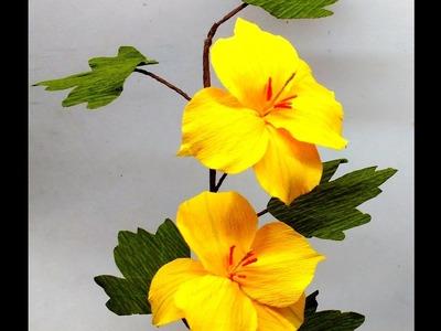 Paper Flowers Fremontia (flower # 124)