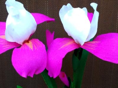 Paper Flowers Iris (flower # 128)