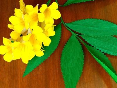 Paper Flowers - Tecoma (flower #119)