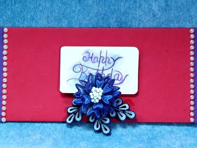Paper Ornamental Quilling Envelope - How to Docorate Birthday Envelope