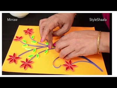 Paper Quilling ✿ Flowers ✿ on a greeting card